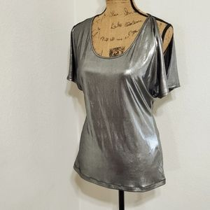 Tart Collections•NWT•Silver metallic•s/s•NWT •